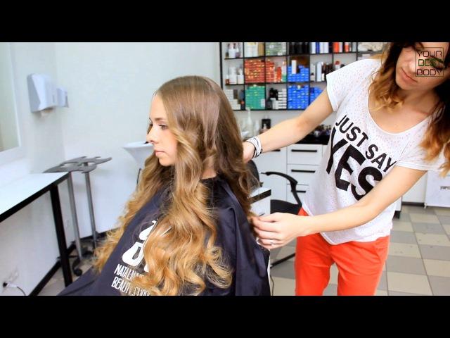 Идеальные локоны на утюжок. Victoria's Secret Hair Tutorial. Big volume curls   YourBestBlog