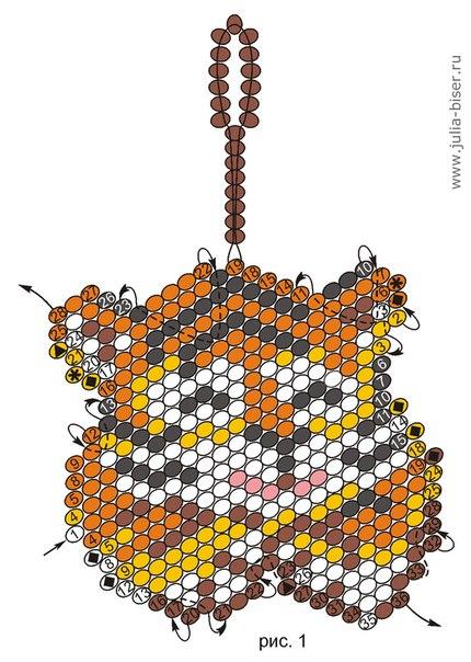 Кирпичное плетение бисером - Ярмарка Мастеров - ручная. как вязать крючком лиф.