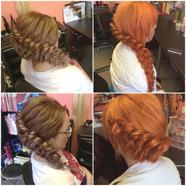 Причёски косы на волосы
