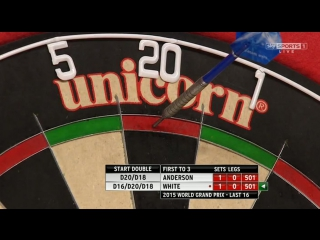 Gary Anderson vs Ian White (World Grand Prix 2015 / Round 2)