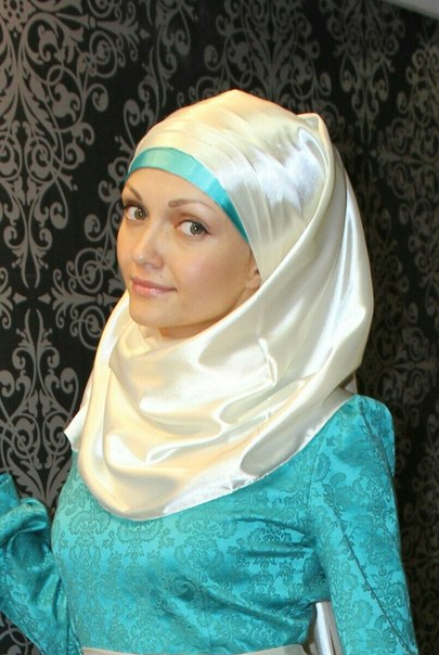 Как правильно завязать мусульманский платок на никах