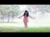小蘋果 花邊白襪涼鞋版 1080p Pigtailed Girl Dancing in Frilly White Ankle Socks with Wedged Sandals