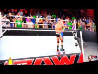 WWE 2K15 - John Cena Vs Randy Orton Gameplay (PS4 & XBOX ONE)
