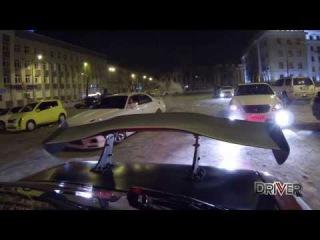 Боком в 2014-й! STREET DRIFT Epidemic in Irkutsk! The BEST moments of Winter!