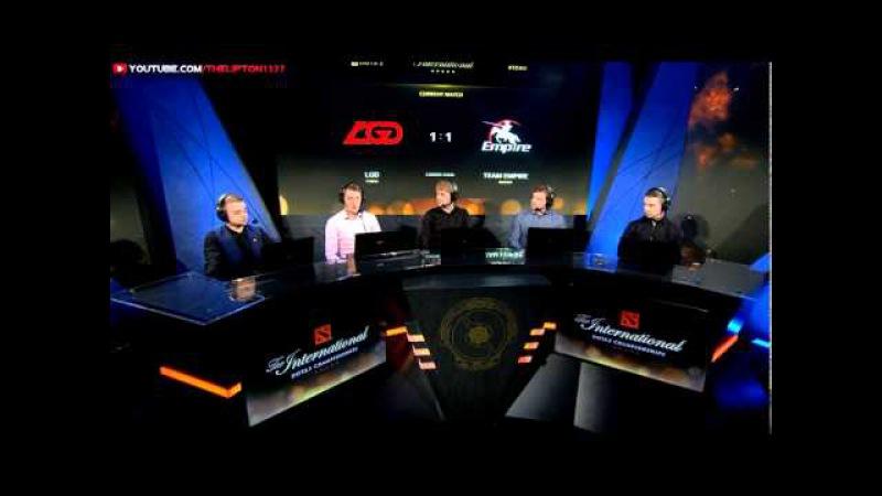 Аналитика LGD vs Team Empire | КАРТА 2 | The International 5 | Верхняя сетка винеров | 03.08.2015