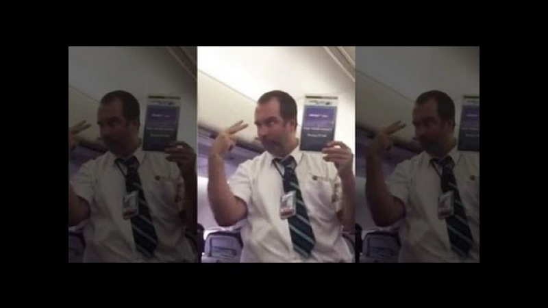 FULL Hilarious WestJet Flight Attendant Safety Demo Leaves Passengers in Stitches
