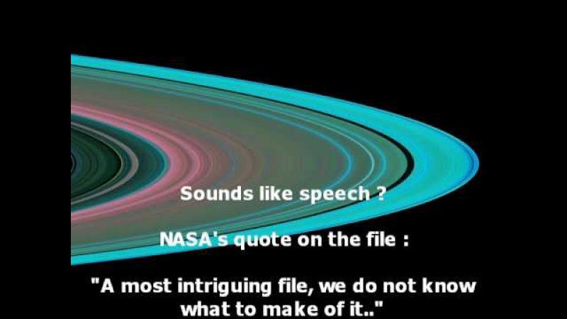 Alien Speech Found in NASA's Saturn Radio Signal