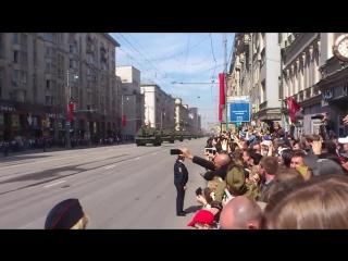 9 мая день победы на 1-ой тверской ямской. с парада