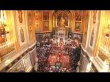 12 апреля 2015 года. Пасхальная великая вечерня в кафедральном соборном Храме Христа Спасителя в Москве.