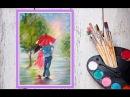 Уроки рисования Как нарисовать парочку под зонтом гуашью Dari Art