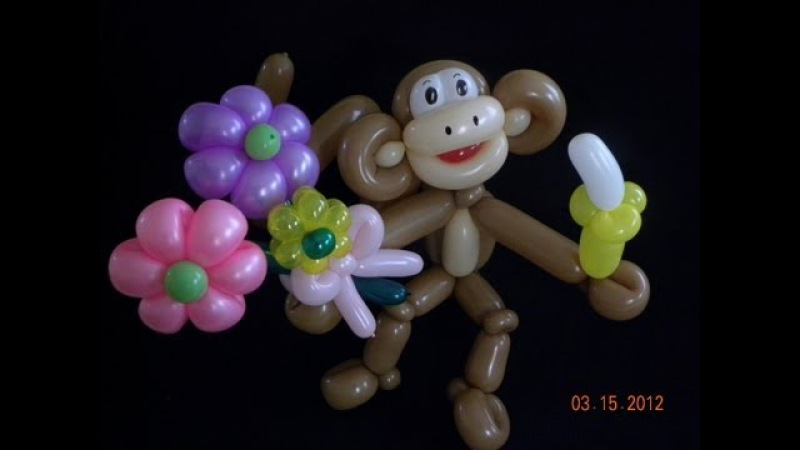 CHANGO CON FLORES MONKEY WITH FLOWERS
