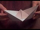 Оригами, как сделать корабль лодку Origami how to make a ship boat
