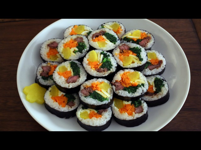 How to make gimbap (aka kimbap: 김밥)