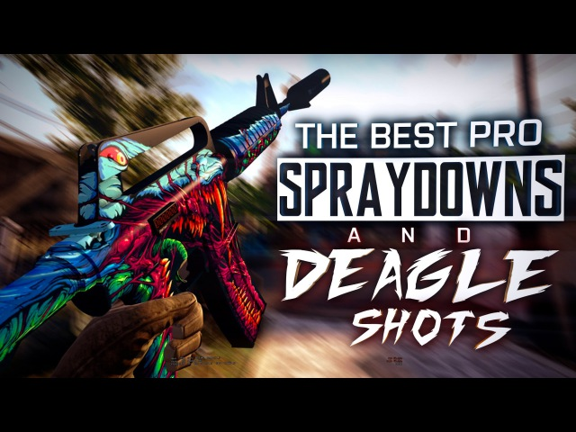 CS:GO | The BEST PRO SPRAYDOWNS DEAGLE SHOTS (The best Juan Deag's, Incredible ACEs) ESL MONTAGE