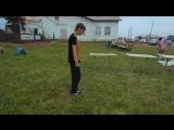 прыгали на детском батуте!)XD
