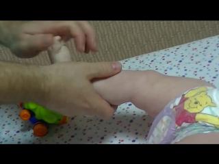Детский массаж и гимнастика для ребёнка 6-9 мес
