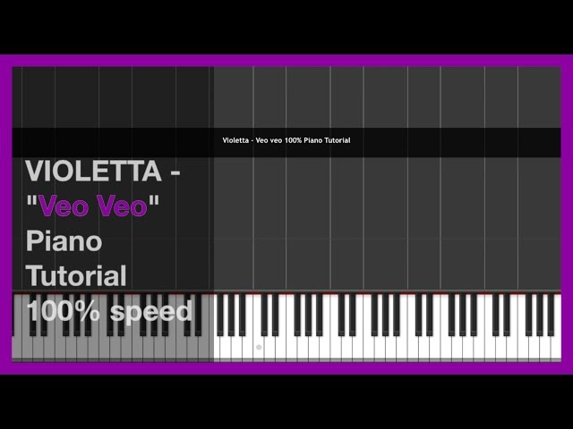 Violetta 3 Veo veo Piano Tutorial-cover 100% speed