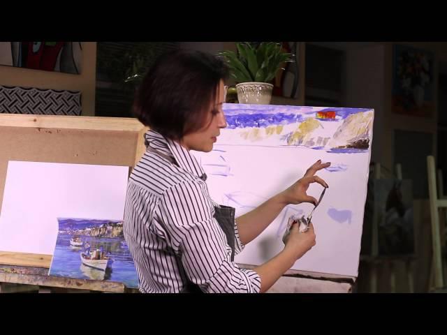 МАСТЕР КЛАСС ПО ЖИВОПИСИ от ЛИЛИИ СТЕПАНОВОЙ. ПЕЙЗАЖ МАСТИХИНОМ / Lesson oil painting. Landscape