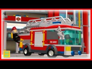 Человечки ЛЕГО пожарники спасают дом от БОЛЬШОГО ПОЖАРА. Мультфильм для детей малышей 2015 СМОТРЕТЬ