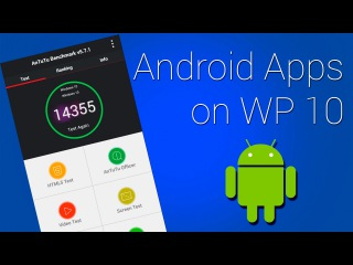 How to install Android Apps on Windows Phone 10 (Как установить APK на Windows 10 mobile)