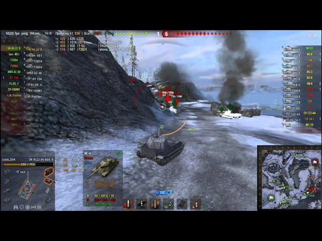 World Of Tanks VK 45 02 B, самы бронированый танк мастер класс от Grom 2014, 7000 дамага, 16к потен