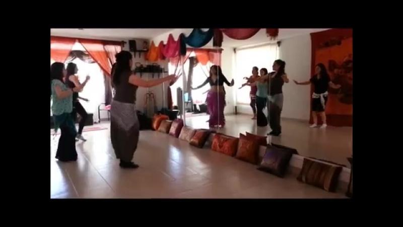 Academia de Danza Árabe 'Azhar Harir' México Profesora Sandra Harir