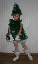 Новогодний костюм елочка для девочки своими руками фото