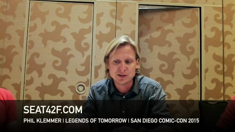 Phil Klemmer LEGENDS OF TOMORROW Comic Con 2015 Interview
