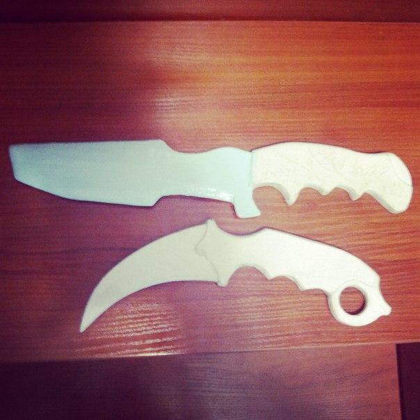 Как сделать нож из бумаги фото