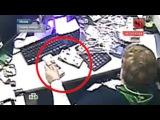 Грабитель за несколько секунд вынес из банка пять миллионов: видео