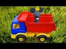 """Мультик про ТРАКТОР и ГРУЗОВИК. """"Маленький фермер. Сеем газон."""""""