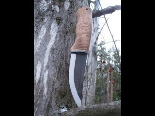 DIY Hawaii Koa handle for Roselli puukko knife blade
