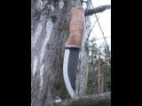 DIY Hawaii Koa handle for Roselli puukko knife blade
