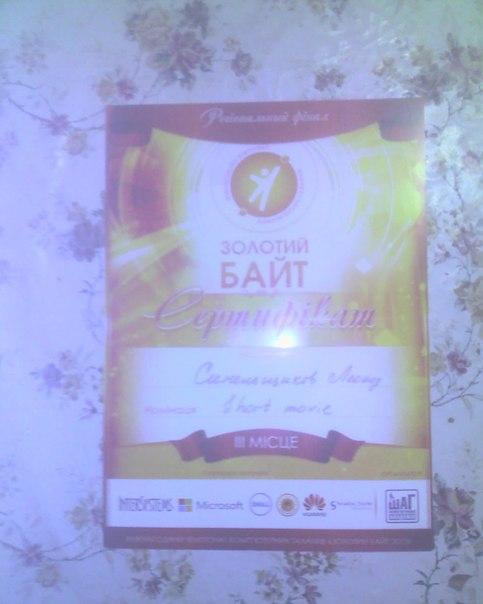 Сертификат золотого байта