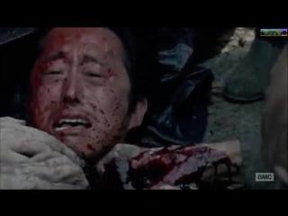 Ходячие Мертвецы .  7 сезон 1 серия  . Глен умер в конце . Смерть глена . The walking dead .