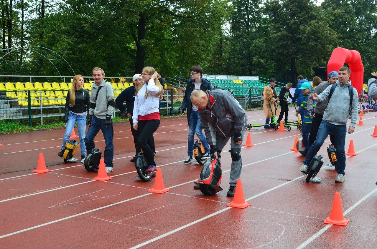 Первые моноколесные соревнования в России