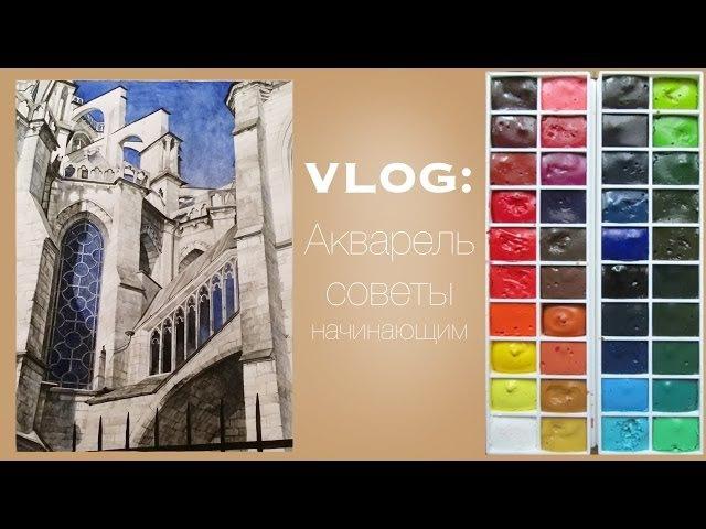 ВЛОГ 1: Акварель, советы начинающим. Как выбрать Краски и Кисти ✍