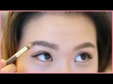UPDATED Korean Straight Eyebrow Routine 눈썹화장법  ANGELLiEBEAUTY