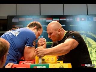 Normunds Tomsons VS Ivan Matyushenko World armwrestling championship 2014