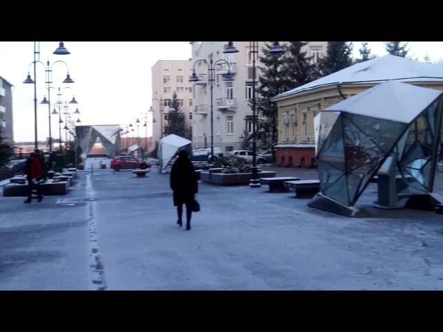 Омский Арбат (ул. Ч. Валиханова) 14.10.2015г - Чуть-Чуть подморозило