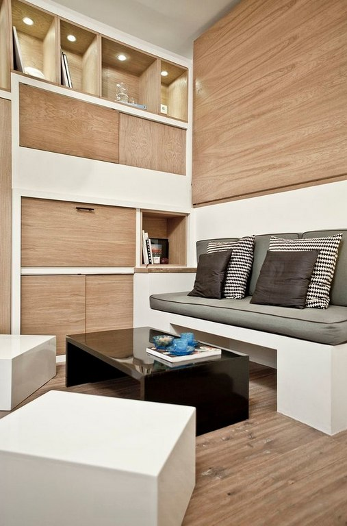 Маленькая квартира-студия 18 м во Франции.
