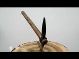 Самодельный томагавк Выборг из ЖД костыля