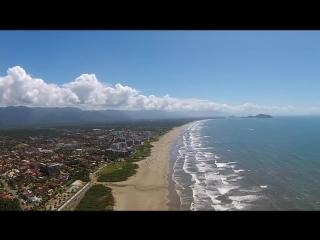 Bertioga - Praia da Enseada - São Paulo - Brasil - Filmagem com Drone