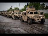 Вата визжит от страха, большая колонна Хамви едет карать российских окупантов