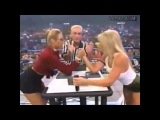 WCW  Major Gunns vs. Miss Hancock Arm-Wrestling  July 26, 2000