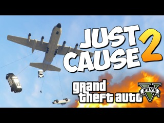 GTA 5 Mods Just Cause 2: ТРЮКИ И ПРИКОЛЫ!