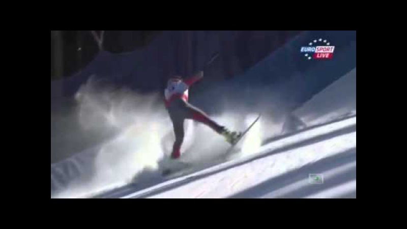 BODE MILLER! Fall and serious injury in Beaver Creek men's Super-G Alpine Skiing 05 02 2015