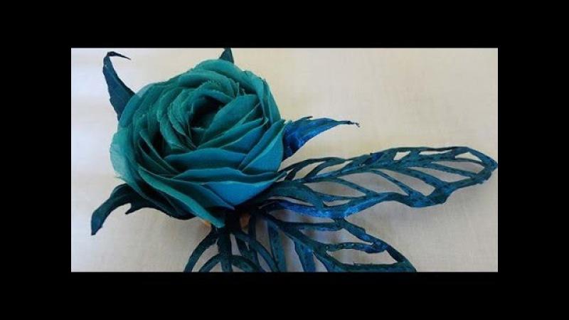 Морская роза. Гильоширование или выжигание по ткани