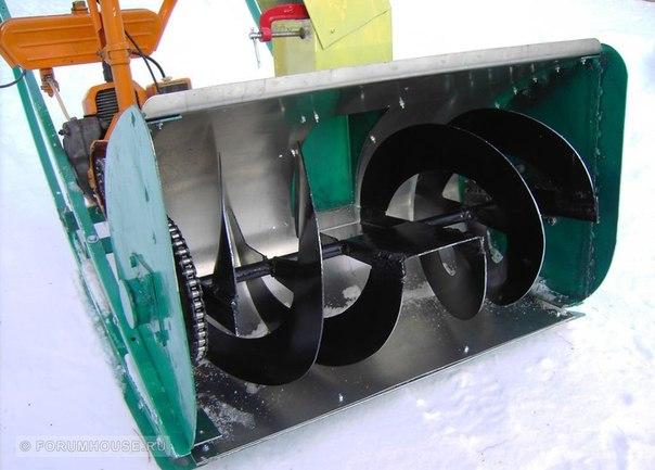 Снегоочиститель из бензопилы своими руками