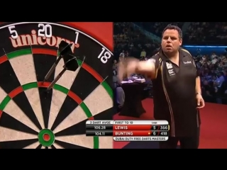Adrian Lewis vs Stephen Bunting (2015 Dubai Duty Free Darts Masters / Quarter Final)